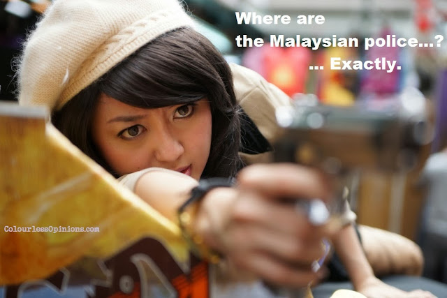 Cheryl Lee as Cat Eyes in Bullets Over Petaling Street still meme
