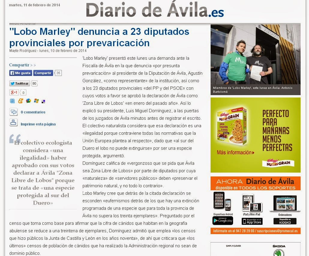 http://www.diariodeavila.es/noticia/Z13947F40-BF0B-A0B1-9F2C25FAAAB77A75/20140210//lobo/marley/denuncia/23/diputados/provinciales/prevaricacion