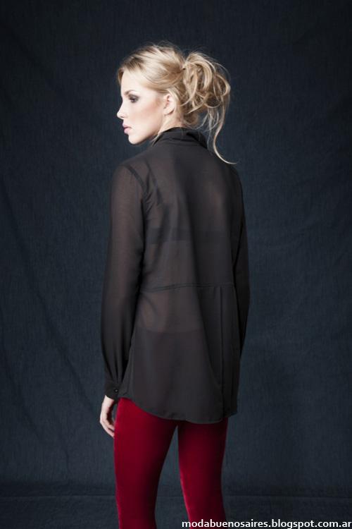 Wupper camisas otoño invierno 2014. MOda en ropa de mujer 2014.