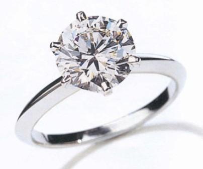 Two Golden Rings 1 Carat Diamond Ring