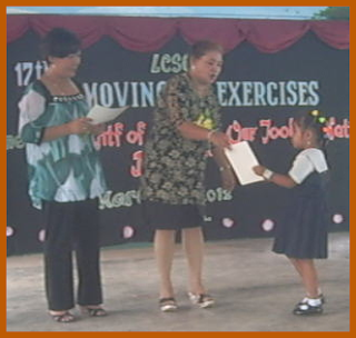 Stephanie Receiving Certificate