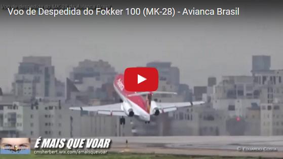 É MAIS QUE VOAR | Avianca Brasil dá adeus do Fokker 100 (MK-28) | Veja 80 Fotos e Vídeo em nossa Matéria Completa