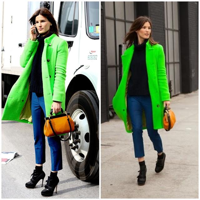 neon green coat