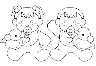 Risco para pintura de bebês