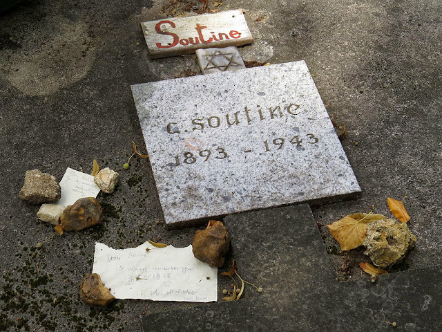 Notes on the tomb of Chaim Soutine, Montparnasse Cemetery, Paris