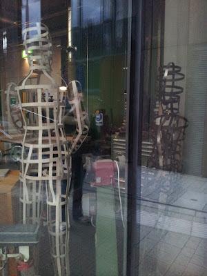 Cage frame men in a workshop in Leeds