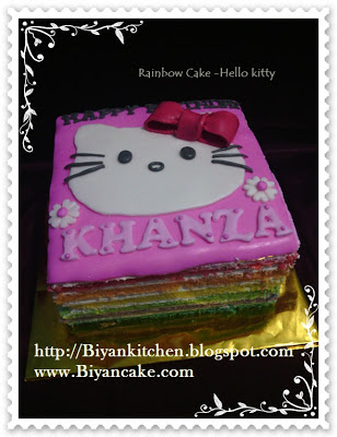 Rainbow cake Khanza