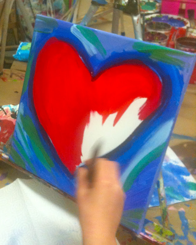 Painting Abstract Hearts for Valentine DayEasy Acrylic Painting Ideas Abstract