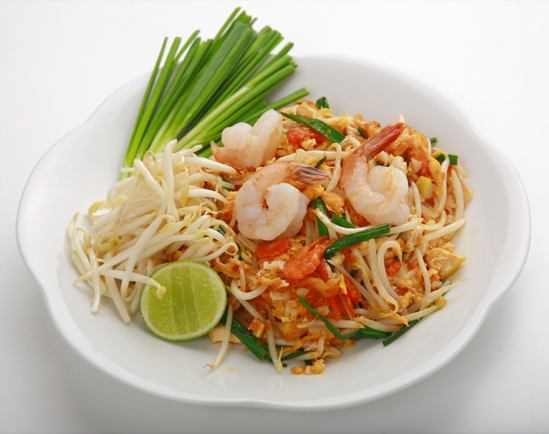 for how thai cook rice noodle pad to of fried (Pad shrimps Thai: with Sod noodle rice Thai Stir Goong