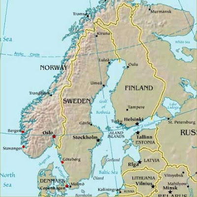 Map of Scandinavia Countries