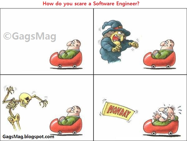 scare a software engineer gag