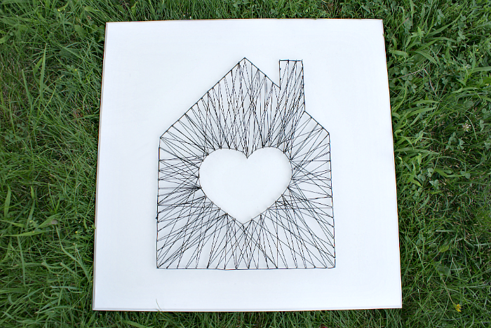 Fifty Two Weekends of DIY: How to Make Simple Modern String Art