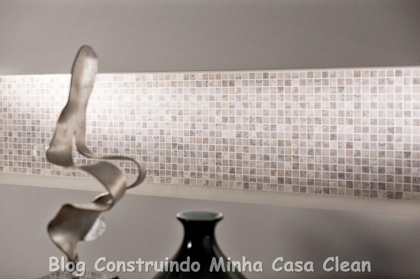 Construindo Minha Casa Clean: Pastilhas de Vidro com Brilho  #746057 1343x895 Banheiro Com Pastilha Madreperola