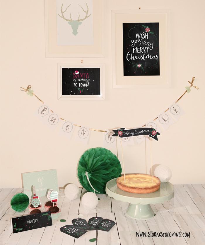 printable holidays party kit