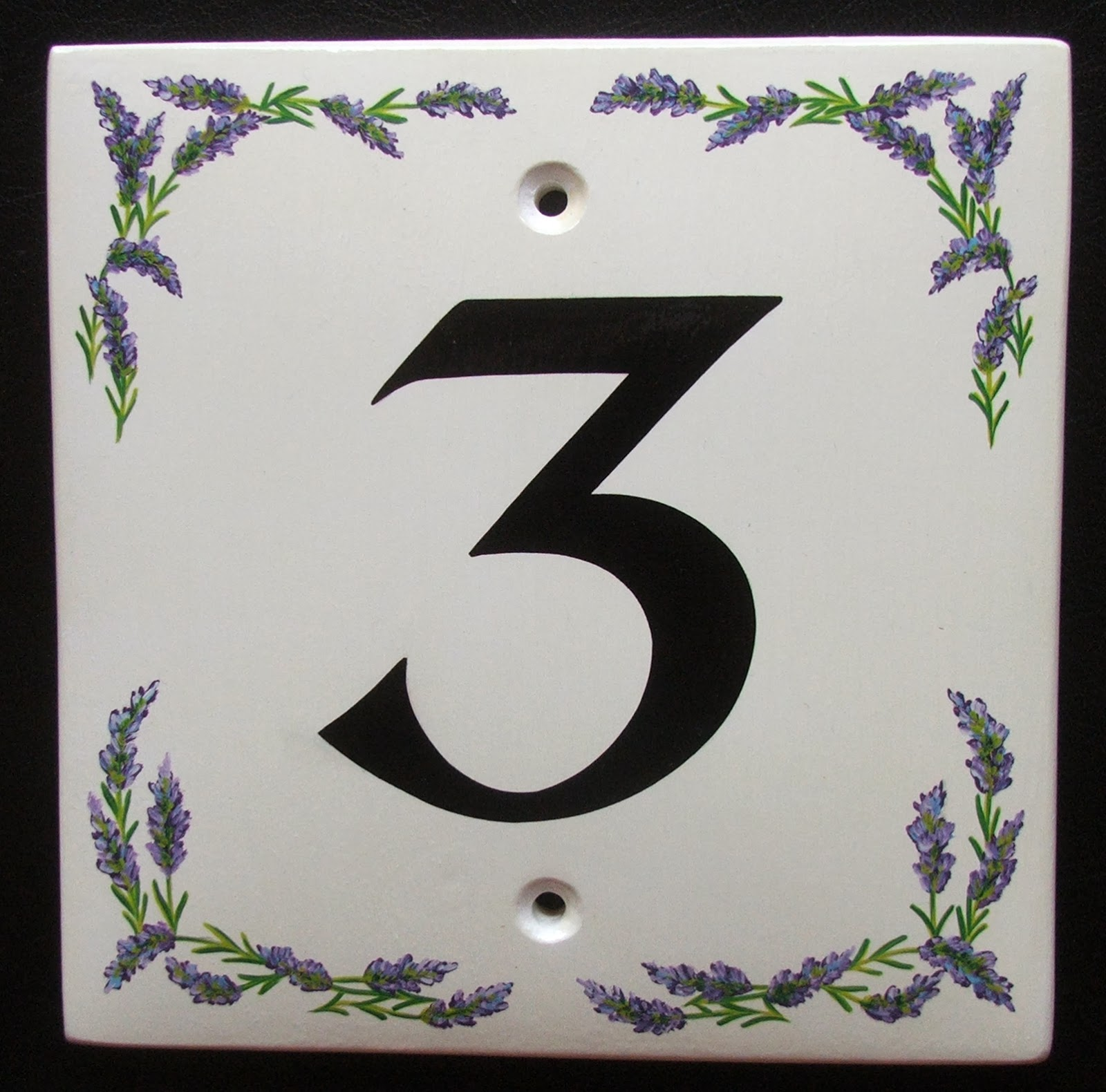 Hand painted house signs by ceramic art october 2013 house number sign with lavender borderr see more of our hand painted signs at handpaintedhousesignsuk email us at saleshandpaintedhousesigns dailygadgetfo Gallery