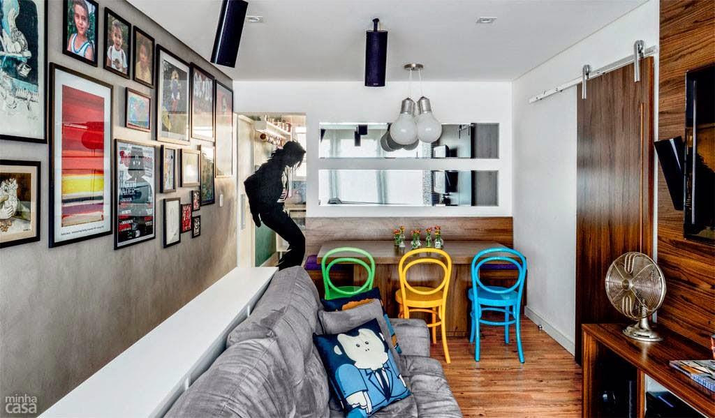 Imagem Minha Casa -> Decoração Aparador Atras Do Sofa