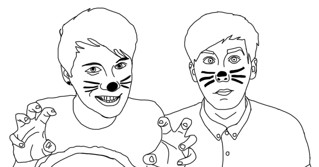 dan and phil coloring pages Raniya Tamjidi dan and phil coloring pages