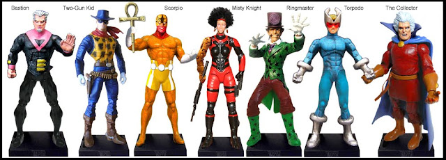 <b>Wave 36</b>: Bastion, Two-Gun Kid, Scorpio, Misty Knight, Ringmaster, Torpedo and The Collector