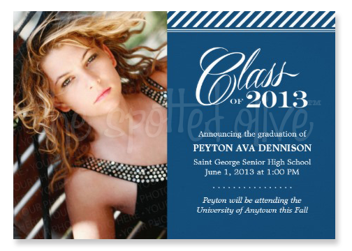 Class of 2013 Stripes Graduation Invitations