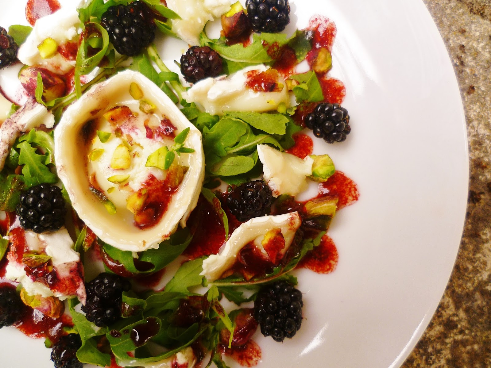 Marmaduke Scarlet: Goat's cheese and blackberry salad with ...