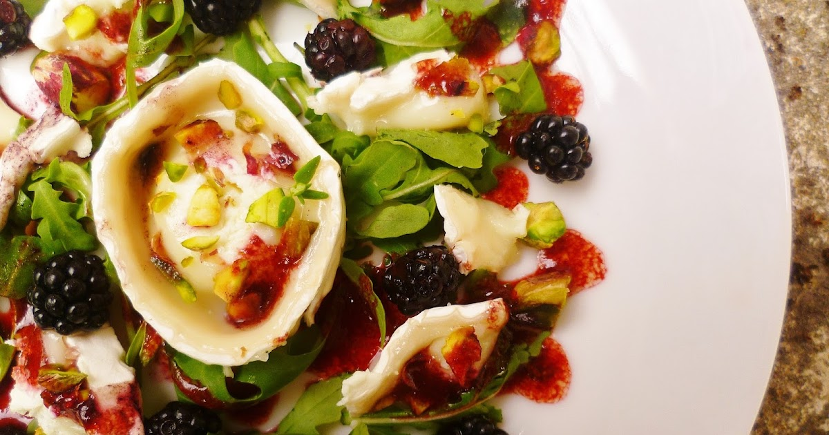 ... : Goat's cheese and blackberry salad with blackberry vinaigrette