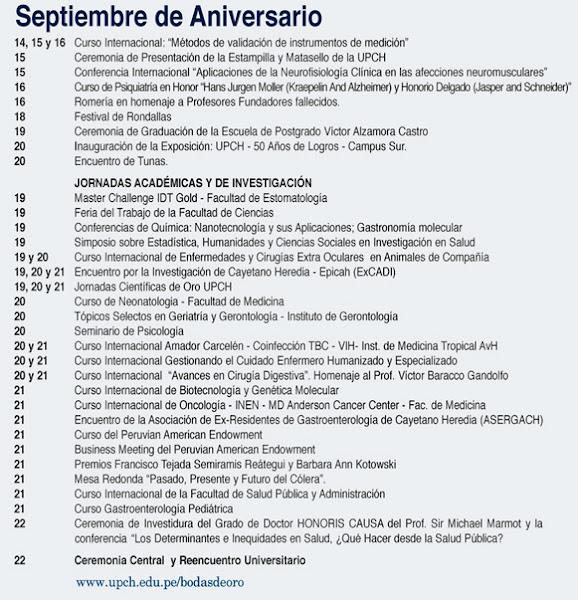 ANIVERSARIO DE ORO