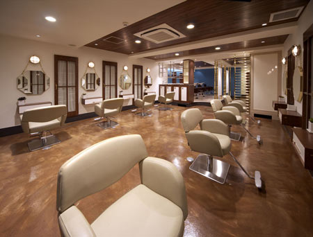 Interior Designing on Environmental Design  Hair Salon