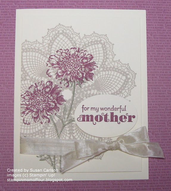 Stampin' Mom Of Four: Mom's Birthday Card