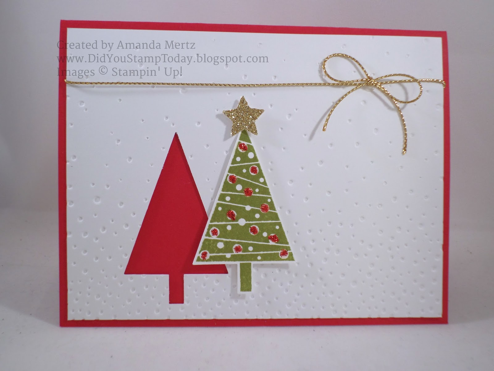 Did You Stamp Today?: Simple Christmas Tree Gift Card Holder ...