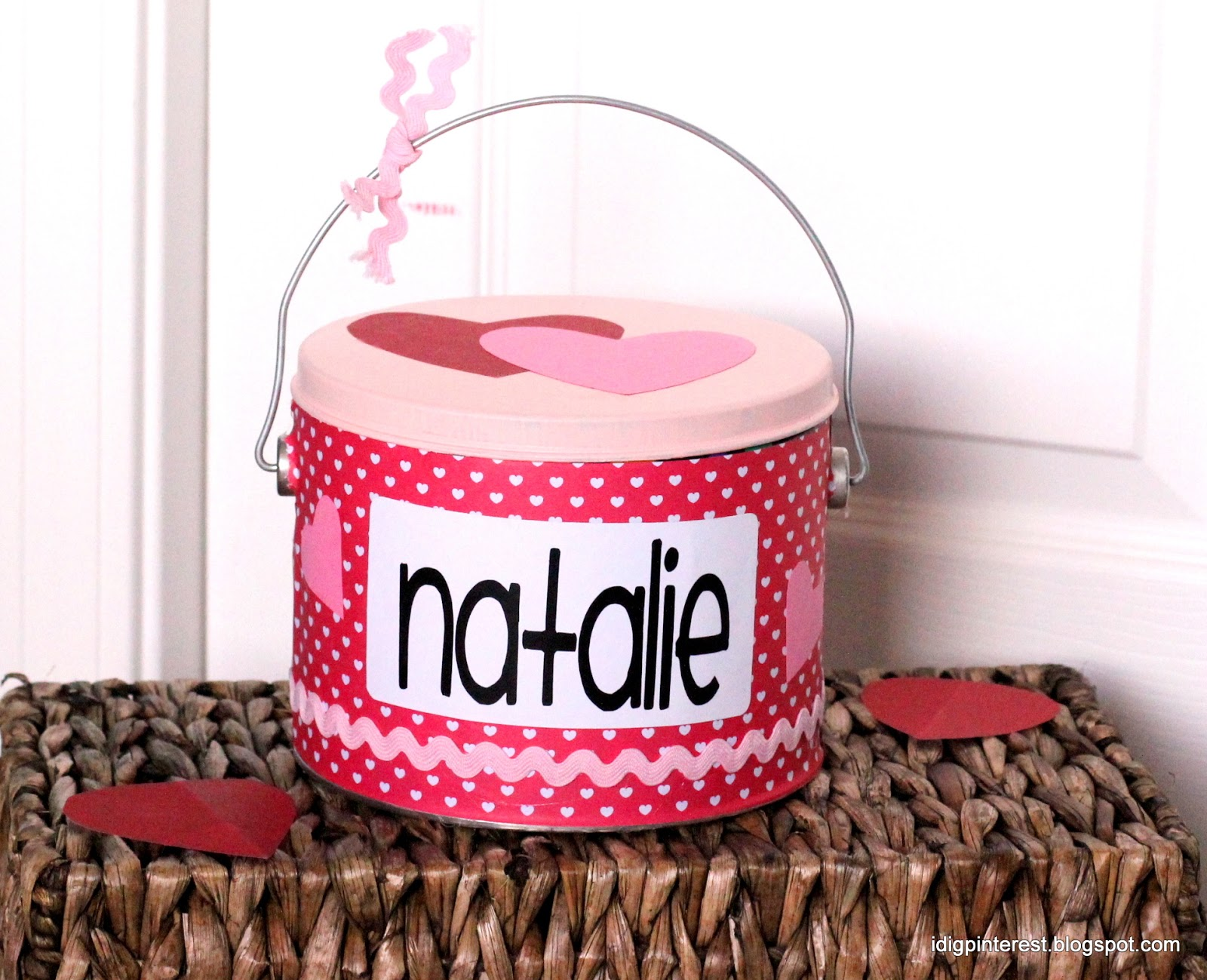 The Valentine S Pail A Cute And Easy Alternative To The Shoe Box I