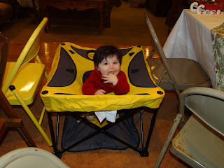 Zanes First Birthday Bash #1  KidCo Go Pod Portable Activity Seat GIVEAWAY!!
