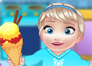 Baby Elsa Cooking Icecream
