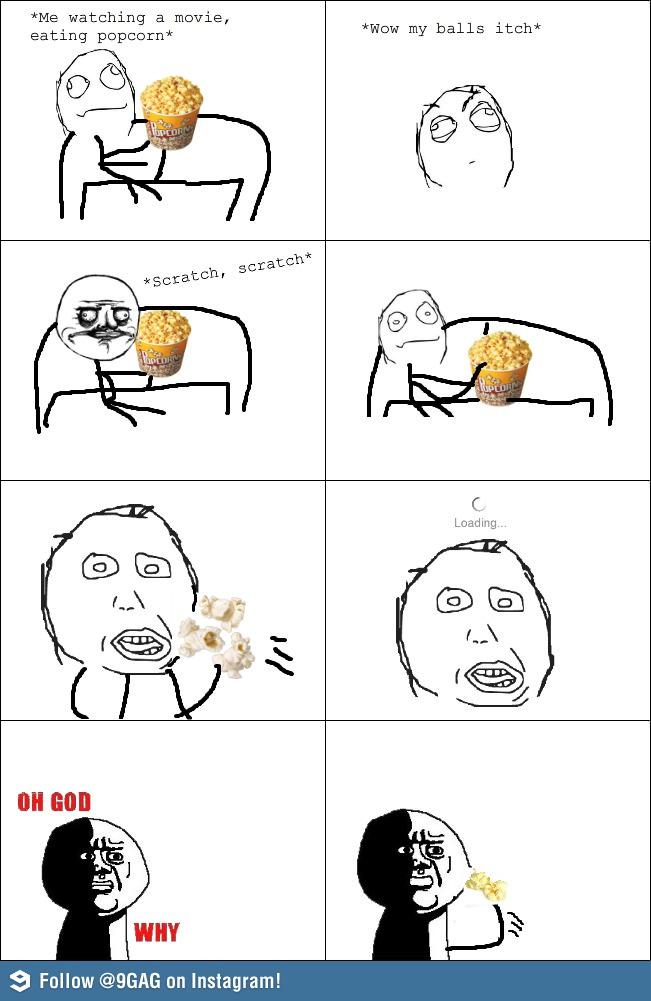 Funny Meme Eating Popcorn : Eating popcorn funny meme memes and pics