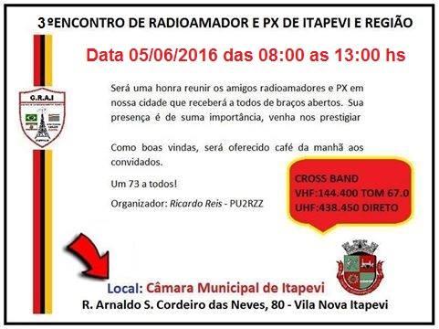 3º ENCONTRO DE RADIOAMADOR E PX DE ITAPEVI E REGIÃO