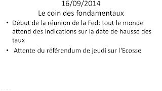 news actualités économiques et boursières 16/09/2014