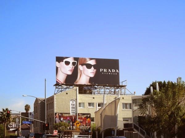 Prada Eyewear SS14 billboard