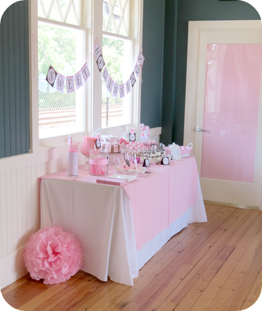 Sweet Beginnings Baby Shower Dessert Table