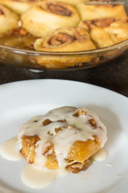 Cinnamon Rolls in 30 Minutes Flat!! www.the-taste-tester.com #recipe