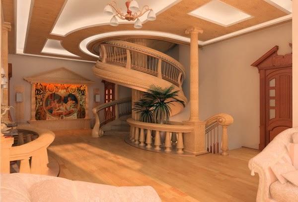 10 unique false ceiling modern living room interior for Interior ceiling designs ideas