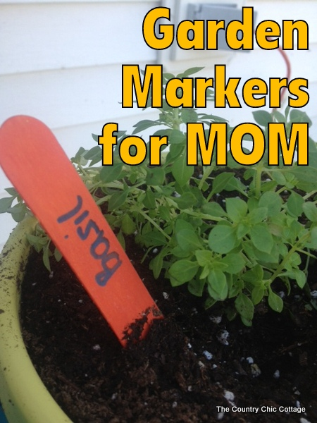 Chalkboard or Permanent Herb Garden Markers that kids can easily make for mom!