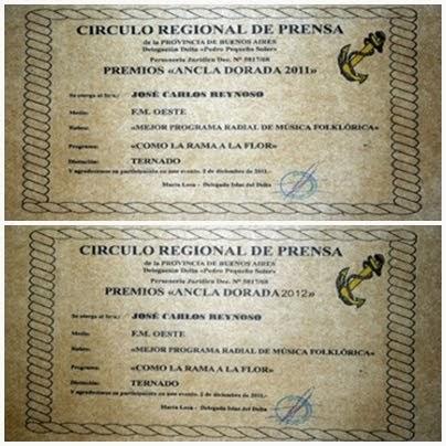 Nominaciones Ancla Dorada 2011-12