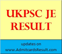UKPSC Result JE