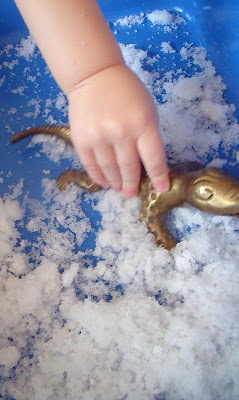 SENSORY EXPLORATION WITH FAKE SNOW