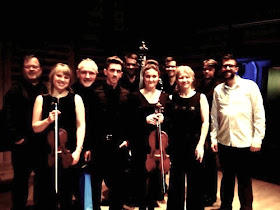 Iain Masson with the Brodsky Quartet and performers, taken at the concert on 9 November