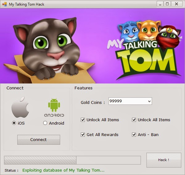 My Talking Tom Hack