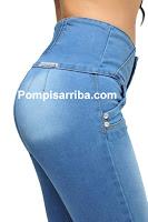 jeans corte colombiano original pompis arriba barato de mayoreo
