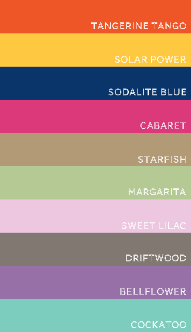 Pantone Spring 2012 Color Picks