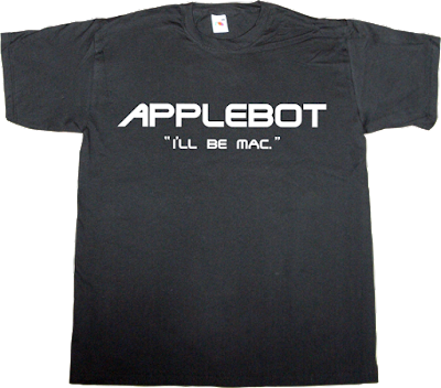 apple robot terminator movie fun macintosh mac t-shirt ephemeral-t-shirts