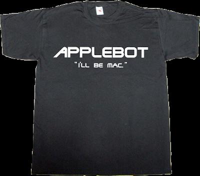 apple robot terminator movie fun macintosh mac t-shirt ephemeral-t-shirts