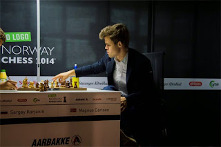 Echecs : Magnus Carlsen (2881) - Photo Chessbase